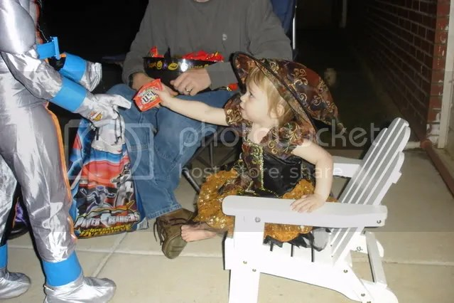 passing out candy
