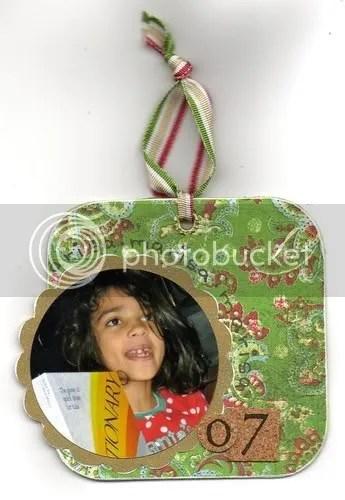xmas ornament back side