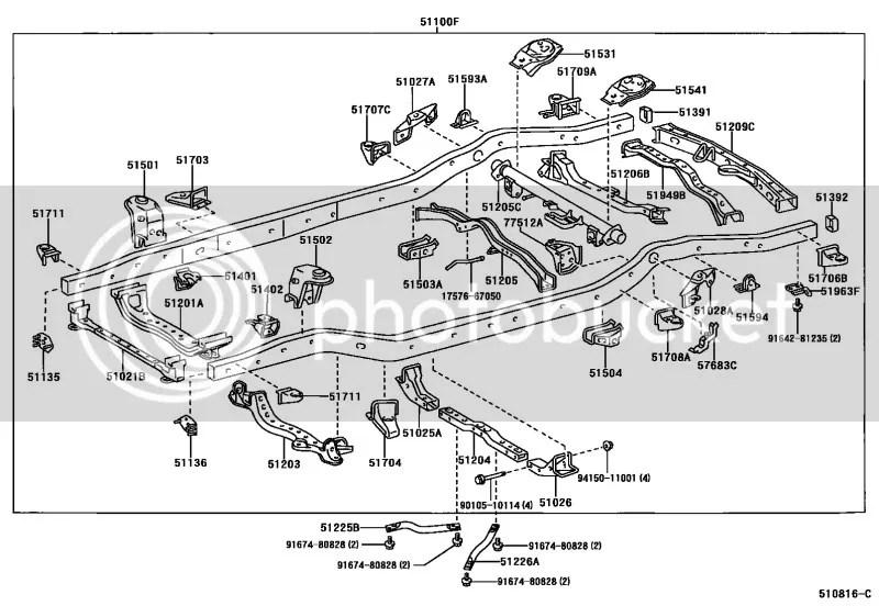 2011 Toyota 4runner Interior Parts Diagram