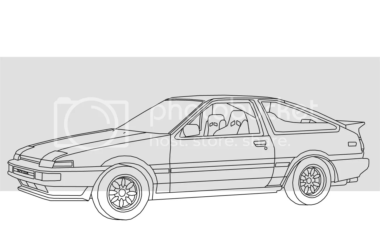AE86 lineart