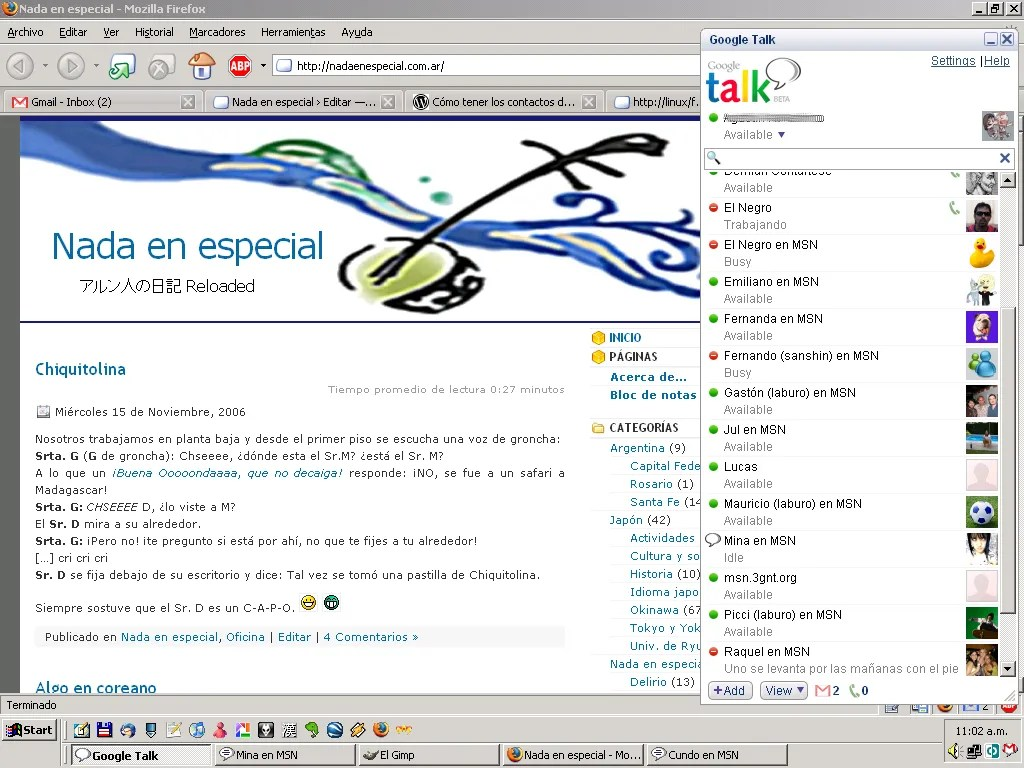 MSN en Google Talk