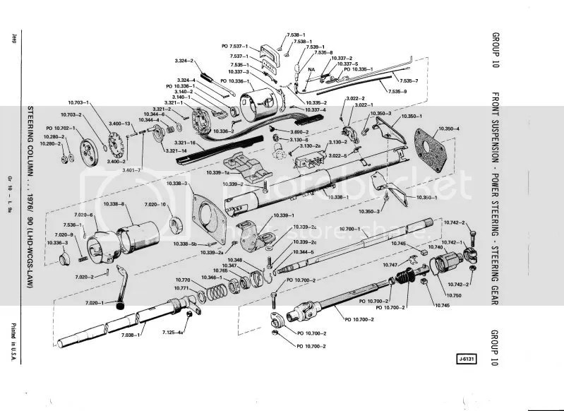 CJ7 Steering colum Parts Diagram needed