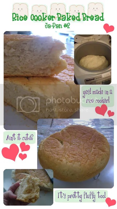 My UFO-looking Rice Cooker Bread... Hehe...
