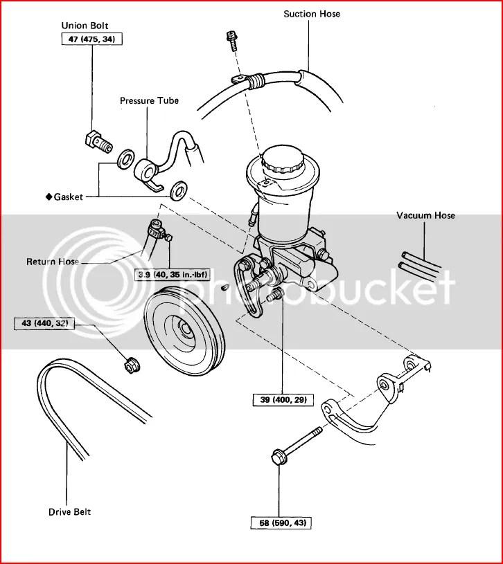 Toyota 22re Power Steering Pump Diagram. Toyota. Auto
