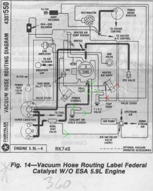 1985 emissions equipment locations?  Dodge Ram