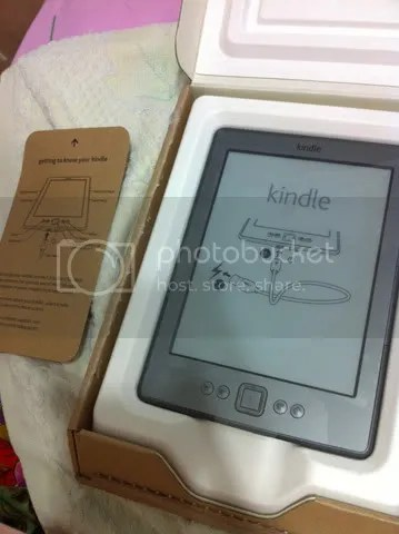 Unboxing the kindle!