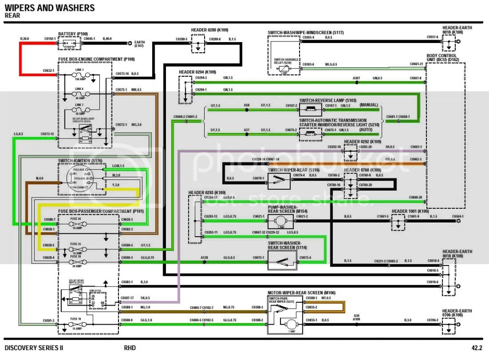 medium resolution of land rover owner view topic rear wiper land rover discovery wiper motor wiring diagram
