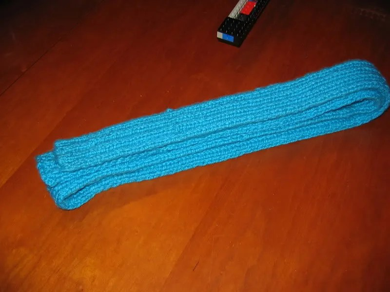 2x2 ribbed scarf, in a bulky bernat yarn