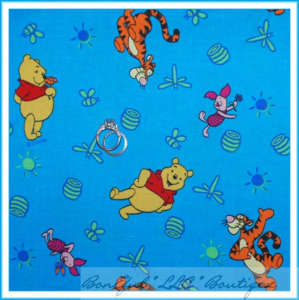 Boneful Fabric Fq Cotton Winnie Pooh Disney Tigger