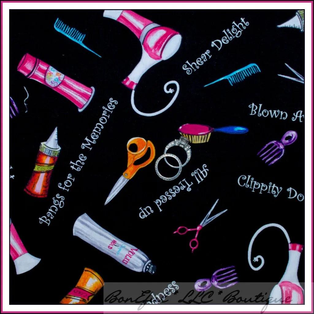 Boneful Fabric Fq Cosmetology Girl Hair Design Cutting