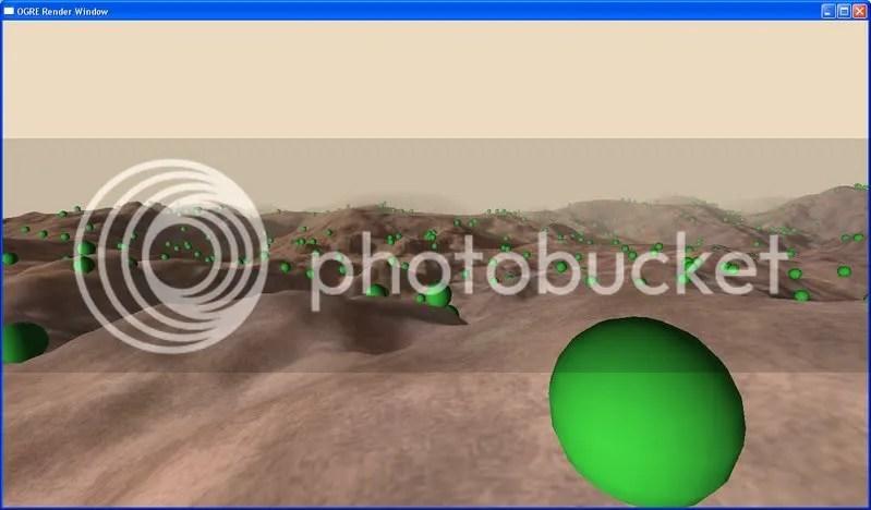 1000 green spheres