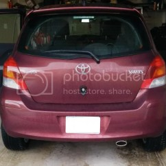 Toyota Yaris Trd Exhaust Oli Transmisi Grand New Avanza Muffler Question Forums Ultimate Couple Photos Of The Jdm Installed Nice And Subtle Look Oval Tip Peeking From Under Bumper It S A Little Close To