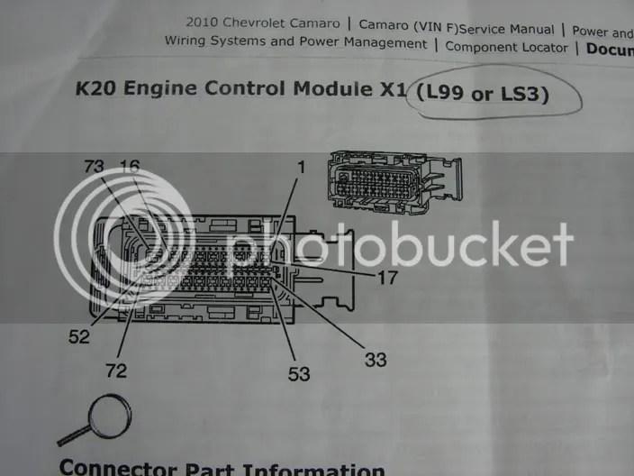 Camaro Pcm Pin Out Description And Wire Colors Ls3
