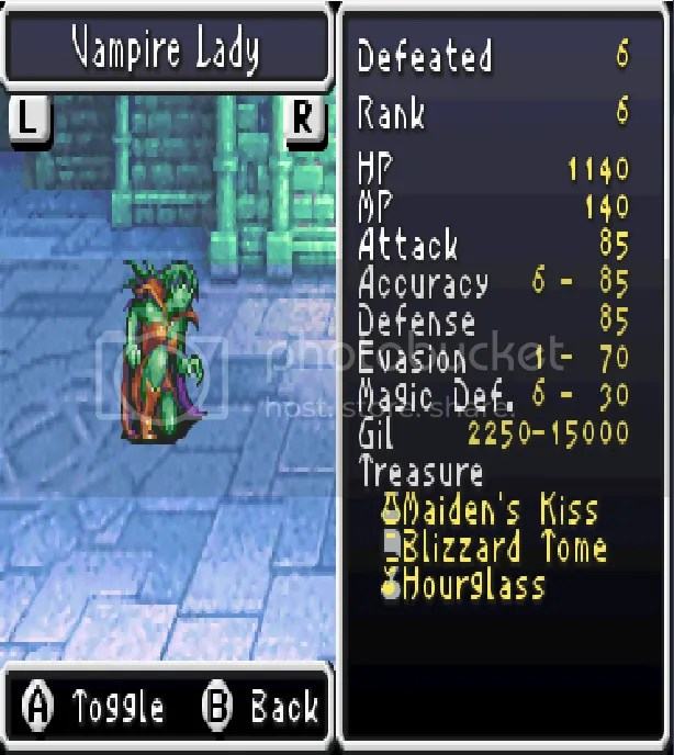 Final Fantasy Ii Advance Bestiary 1 169 Dawn Of Souls Epixome