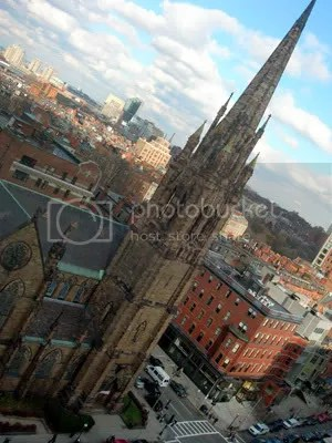 Heres what outside the window looks like. Yep, thats that church on Newbury Street!
