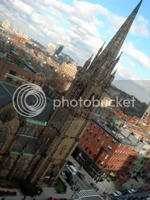 Heres what outside the window looks like. Yep, thats that church on Newbury Street!