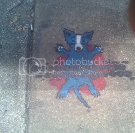 Blue Dog Roadkill