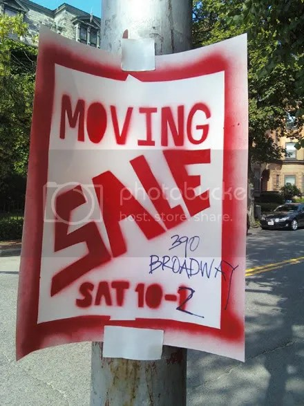 Moving Sale Stencil