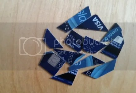 Cut Up Credit Card