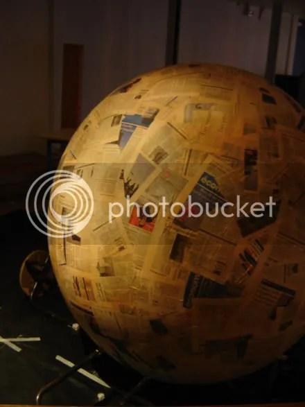 Huge Papier Mâché Ball