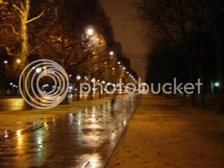 Nighttime Champs-Elysées