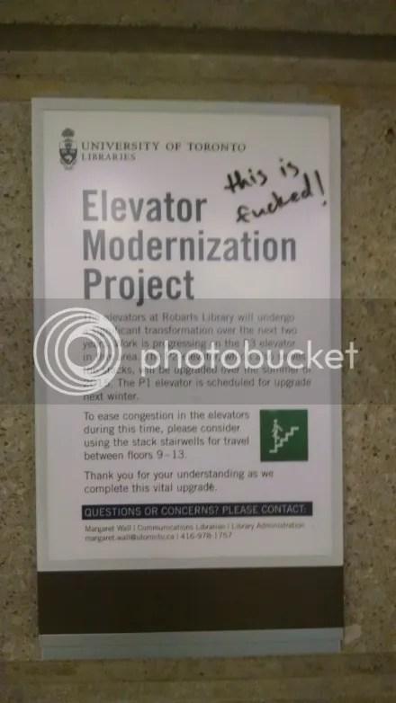 Elevator Frustration