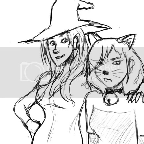 Elmiryn and Nyx, Witch and Cat