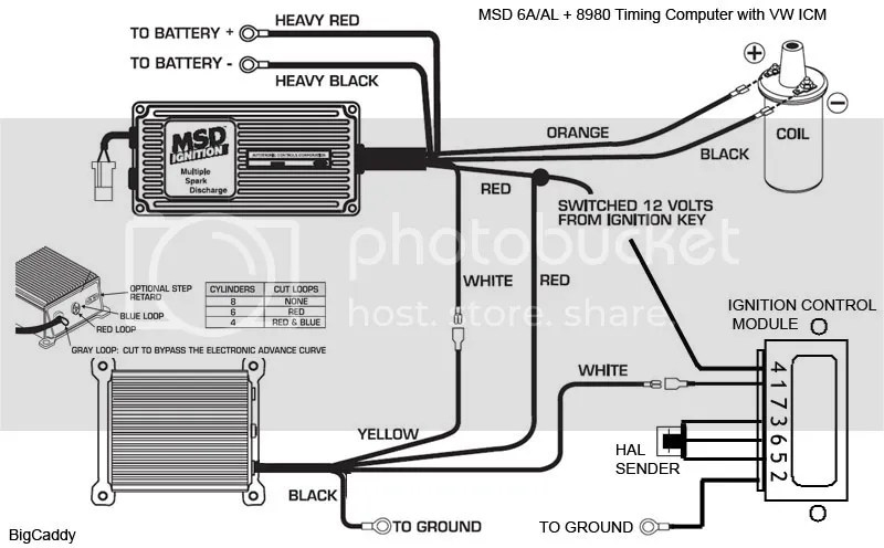wiring diagram for msd 6al pilot light switch vwvortex com with 8980 timing control and 8910 tach computer
