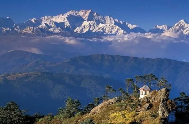 Mt. Kanchenjunga, highest peak in India