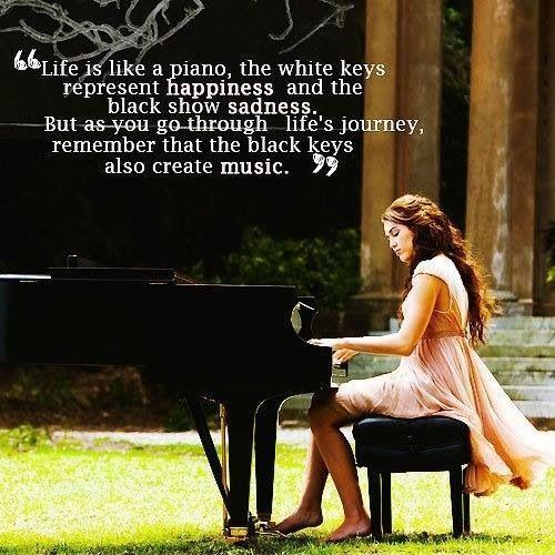 Life is like a piano. Picture Quote #1