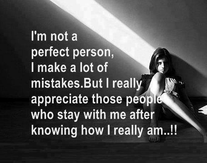 我不是一個完美的人。我犯過很多錯誤。但我真心感激那些知道我事實真相卻仍然肯留在我身邊的人們。   林瑞碧