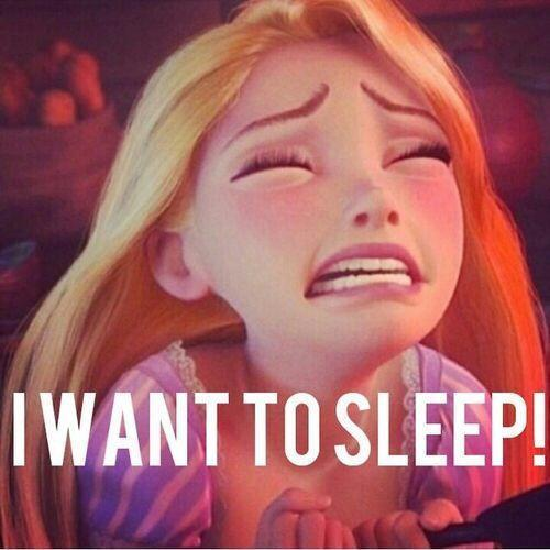I want to sleep. Picture Quote #1
