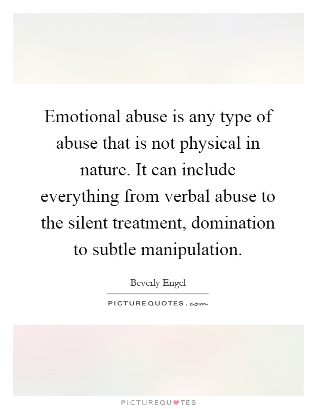 Abuse relationships mental in The Many