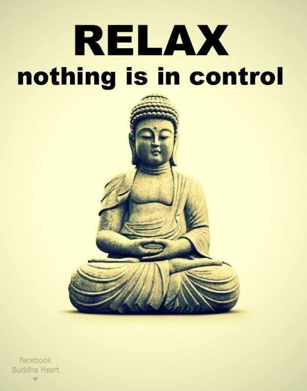 Relax. Nothing is in control. Picture Quote #1