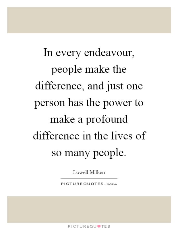 Peoples Making Difference Lives