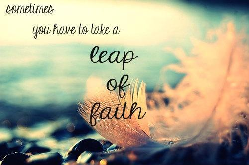 Image result for take a leap of faith