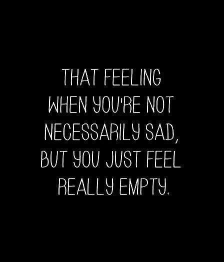 Image result for feeling empty