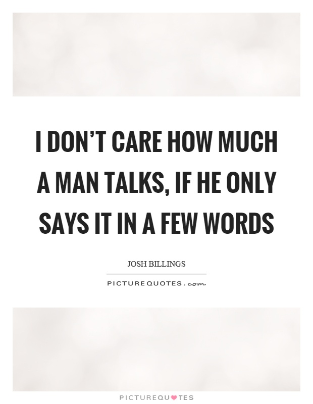 How Much Care I Dont Quotes