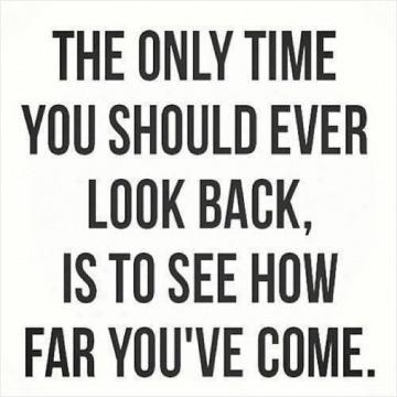 Don't forget to stop and look around at how far you've