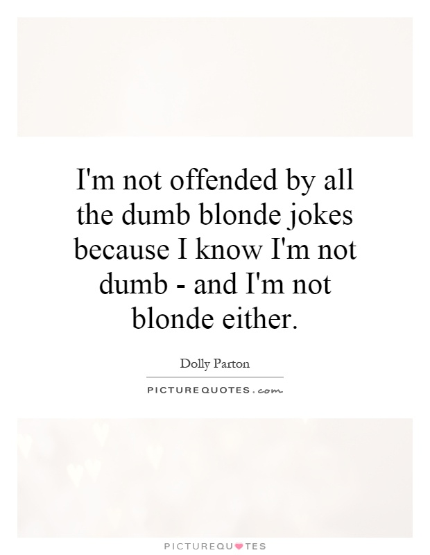 Blonde Quotes And Jokes