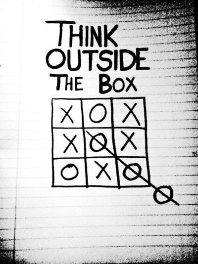 Think outside the box. Picture Quote #1
