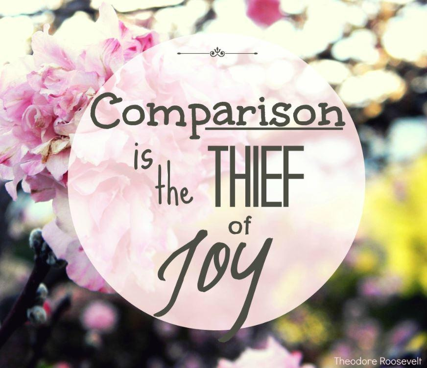 El compararse es un ladrón de la alegría