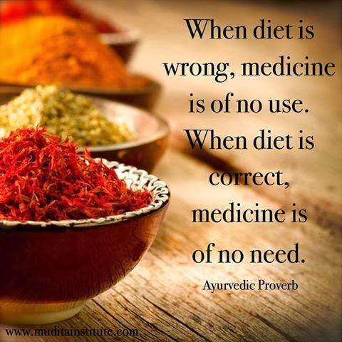 When diet is wrong, medicine is on no use. When diet is right, medicine is of no need. Picture Quote #1
