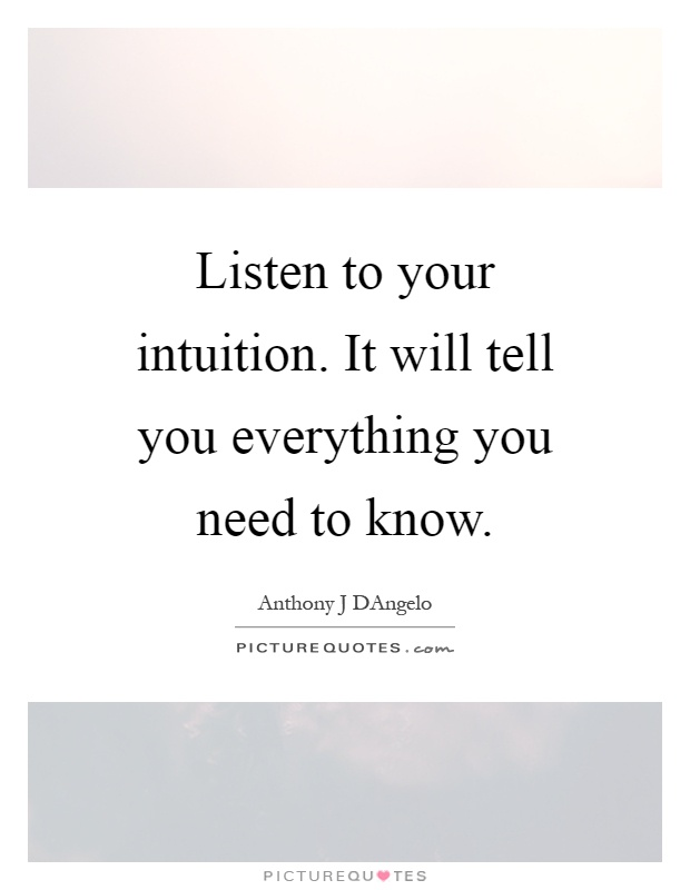 Quotes On Intuition : quotes, intuition, Intuition, Quotes, Sayings, Picture