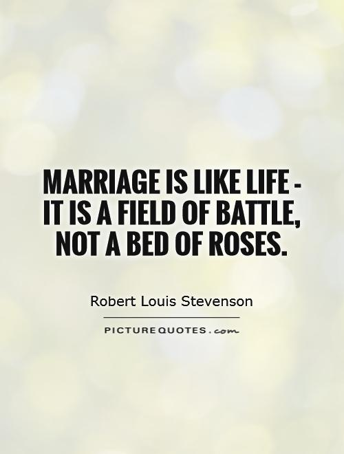 Image result for marriage is not bed of roses