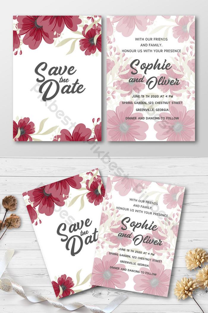 Mock Up Undangan : undangan, Floral, Bouquet, Frame, Wedding, Invitation, Style, Mockup, Download, Pikbest