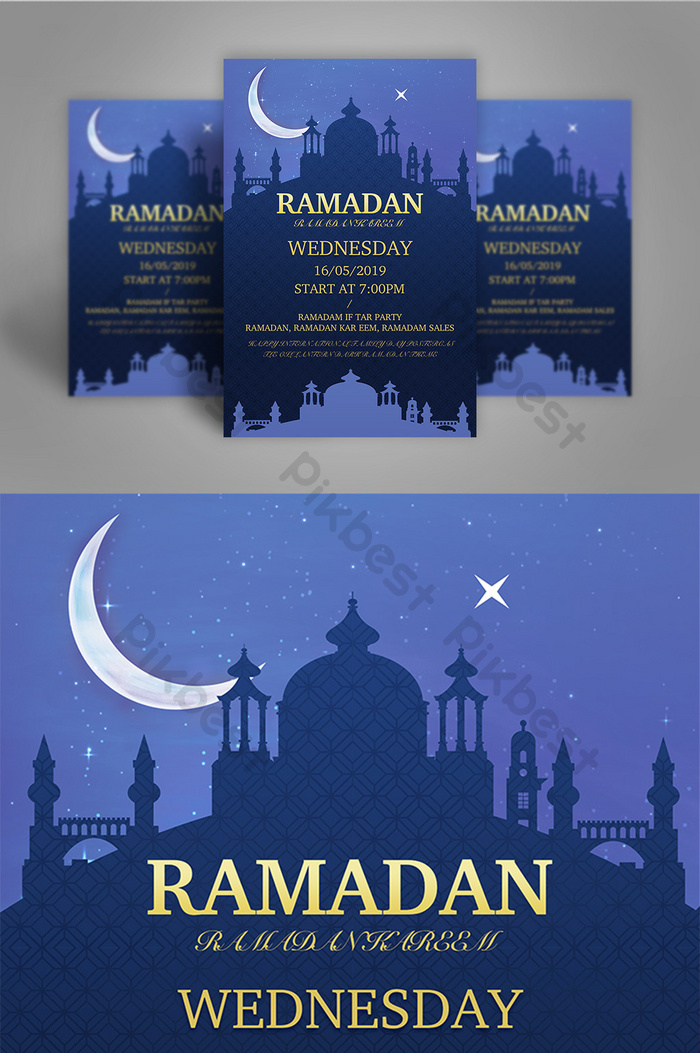 Banner Ramadhan 2019 : banner, ramadhan, Group, Background, Ramadan, Poster, Download, Pikbest