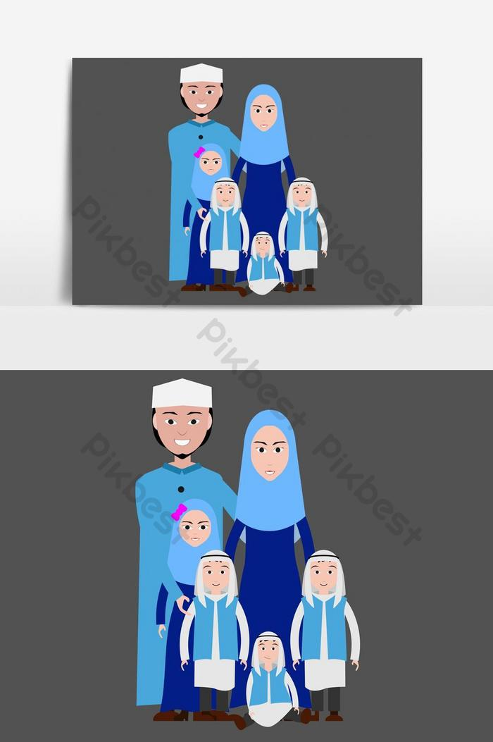 Keluarga Muslim Png : keluarga, muslim, Muslim, Family, Cartoon, Image, Islamic, Attire, Images, Download, Pikbest