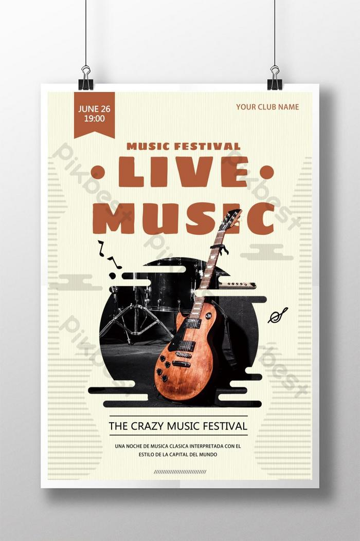creative music poster design psd free