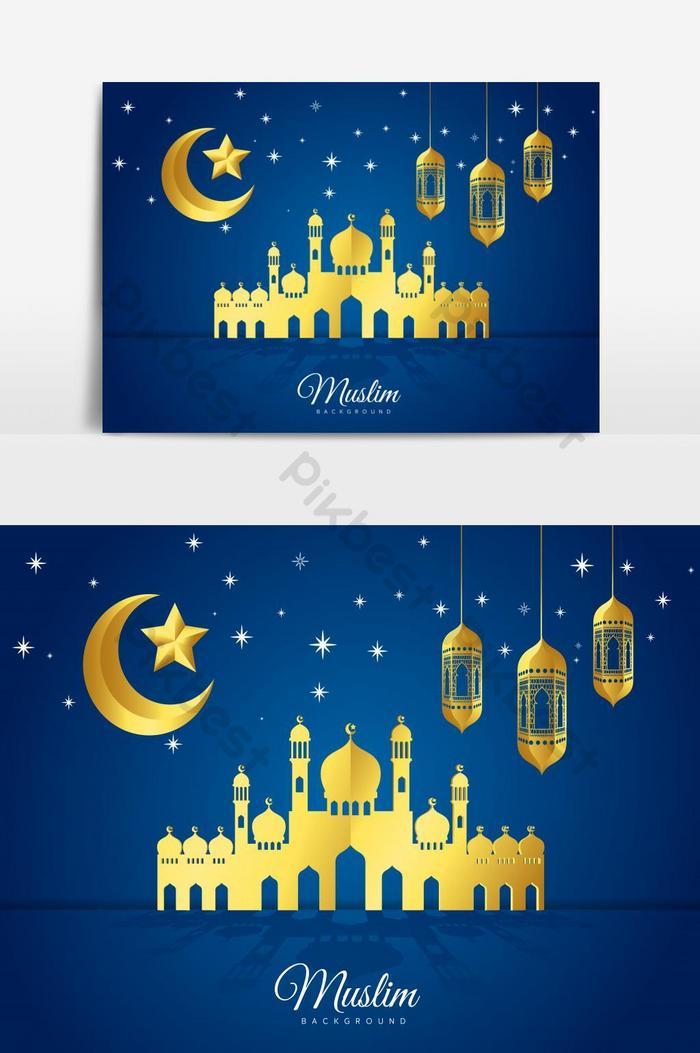 Kartu Ucapan Lebaran Vector : kartu, ucapan, lebaran, vector, Vector, Illustration, Mubarak, Islamic, Holiday, Greeting, Design, Images, Download, Pikbest
